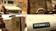 The Syrian official news agency SANA showed these photos of a &quot;captured&quot; IDF jeep as proof Israel is aiding rebels - but the jeep is more than 13 years old