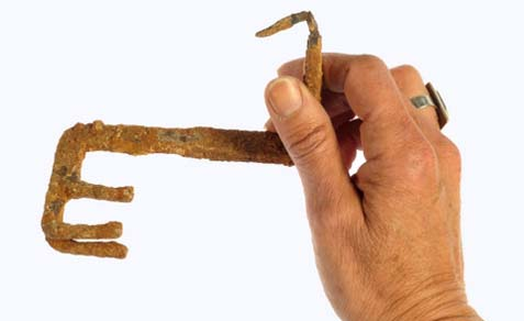 A 2,000-year-old key was exposed in the excavation in Jerusalem.