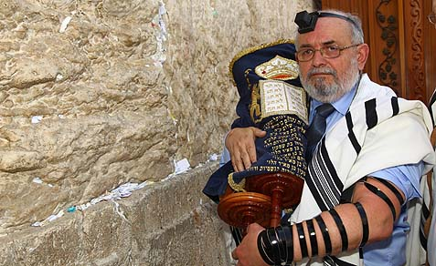 Moshe Aoflko at the Kotel