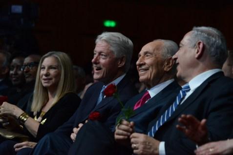 Babs, Clinton, Peres and Netanyahu