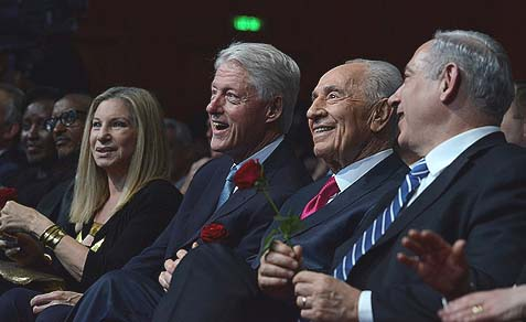 President Clinton with them.