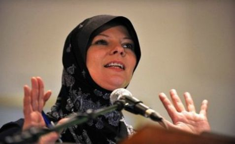 Laura Booth, Tony Blair's sister-in law, after she converted to Islam