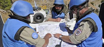 UNDOF peacekeepers on the Golan Heights.