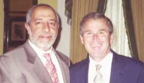 Abdul Rahman al-Amoudi with a friend.