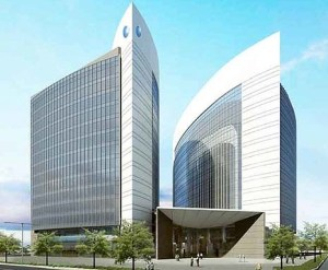 The planned building for the Abu Dhabi Islamic Bank, one of the world's largest no-interest financial institutions.