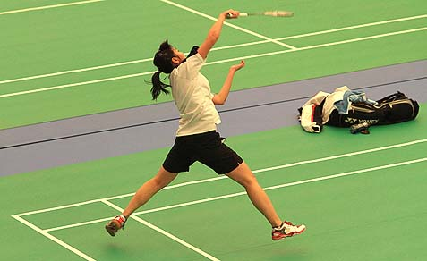 Badminton Women's Singles Shots.