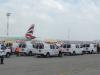 Ambulances lined up at Ben Gurion Airport