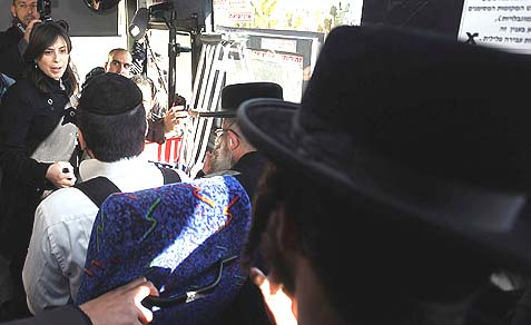 "In 2011, Likud MK Tzipi Hotovely spoke to Haredi men during a bus ride in Beit Shemesh. Dec 29, 2011. Hotovely and several members of the Knesset Committee for the Advancement of Women boarded a ""mehadrin"" segregated bus line to protest the segregation of women. The mostly female MKs sat in the front of the bus."