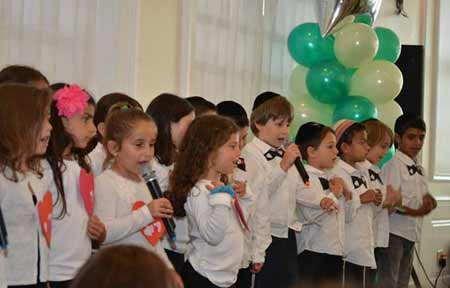 Hebrew After School students perform at celebration.