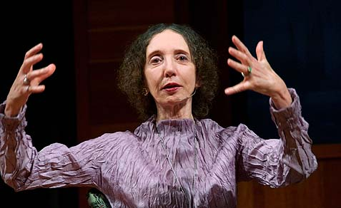 "Joyce Carol Oates, has been mangled online and in the press because she tweeted, ""Where 99.3% of women report having been sexually harassed & rape is epidemic—Egypt—natural to inquire: what's the predominant religion?"""
