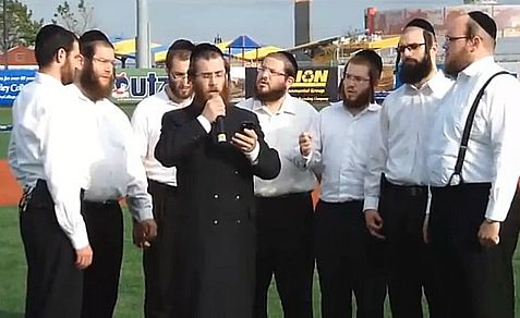 The smartphone saved the day for the lead Haredi singer at a baseball game, but the choir was not so fortunate