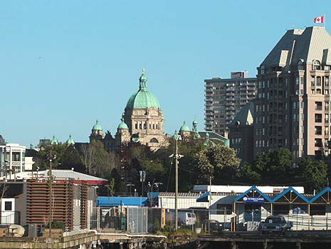 Alexandra Stephanson for National PostThousands of tourists visit Victoria every year to see the downtown Legislature building. Featured here on Wednesday, May 8, 2013, it is surrounded by hotels to the right and in the forefront some of The Victoria Clipper's maintenance area.