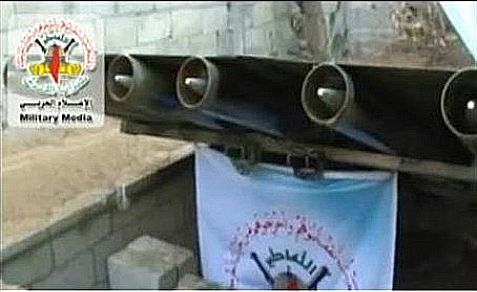 Hamas shows off its missile launcher hidden underneath a soccer field