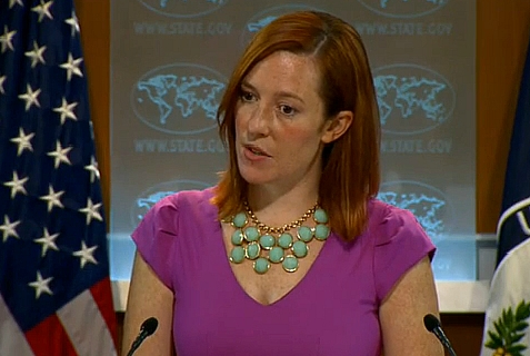 US State Department spokesperson Jen Psaki.