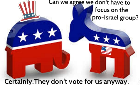Neither the Democrats nor the Republicans expressed any interest in the abuse of a pro-Israel group by the IRS.