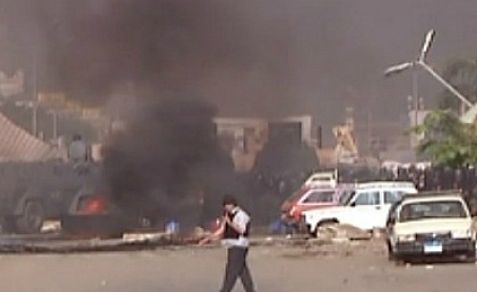 Clashes in Cairo between pro-Morsi supporters and the army on Wednesday