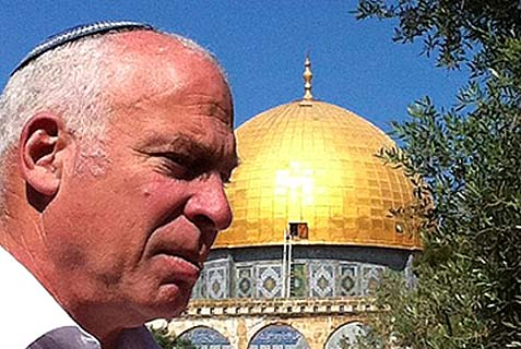 Housing Minister Uri Ariel on Temple Mount.