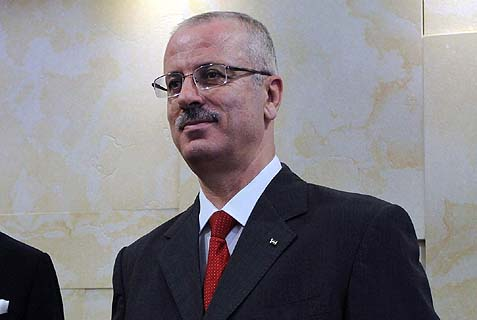 Palestinian Prime Minister Rami Hamdallah.