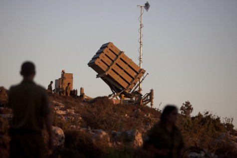 There are nine Iron Dome anti-missile defense system  batteries deployed around Israel at present.