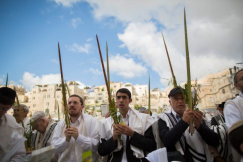 .Shacharit on Sukkot at the Kotel