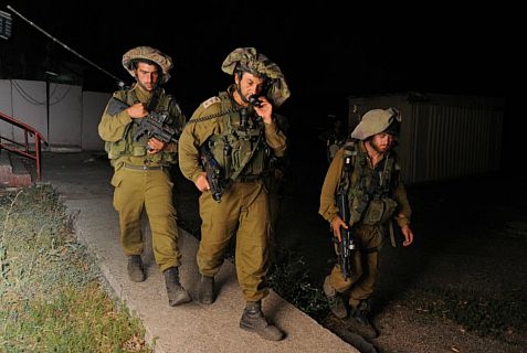 IDF soldiers searching for  terror suspects.