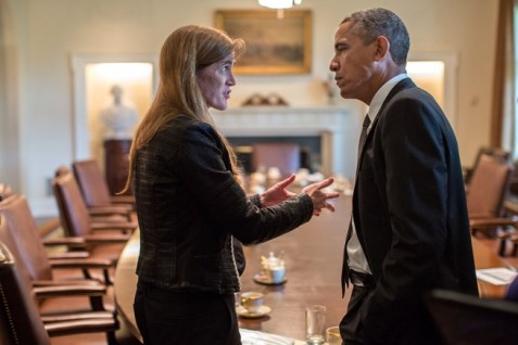 Obama and Samantha Power