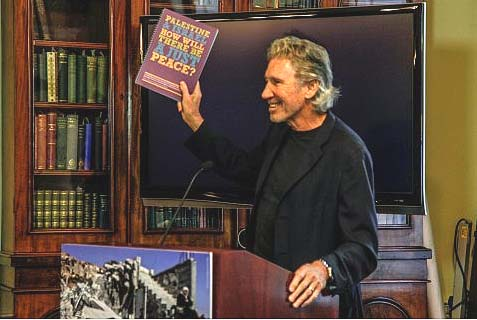 Roger Waters with Sadaka Board Members launching the Sadaka Education Resource on Palestine / Israel at the Royal Irish Academy in Dublin, September 17.