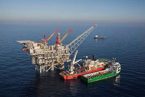 'Tamar'  gas rig off Israel's Mediterranean coast.