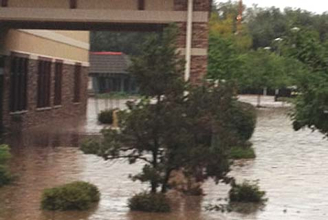 The Chabad Jewish Center in Longmont, Colo., was struck by flash floods.