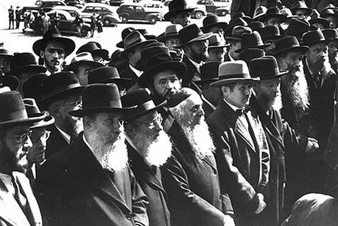 The 400 Rabbis' march on Washington, 1943.