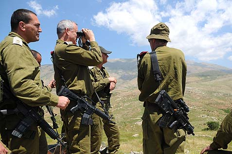 Lt. Gen. Gantz on a visit to the Golan earlier in 2013.