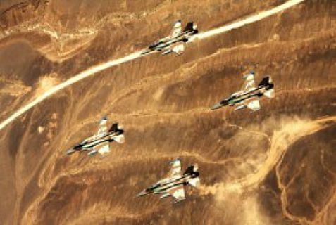 The Israeli Air Force probably was the source of a missile attack that destroyed a Syrian air base Thursday.