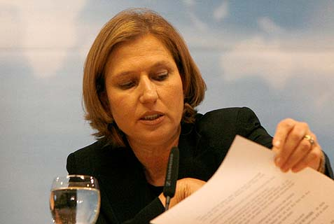 "Peace negotiator Tzipi Livni: ""The Palestinian refugee problem has no connection with the Arab countries."""
