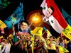 Hizbollah supporters in Lebanon show support for terror leaders Hassan Nasrallah and Bashar al-Assad