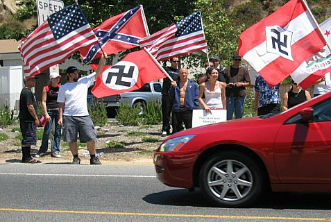 "Avowed neo-Nazis parade for Nazism in the United States, but there are quiet average Joes willing to support it ""to keep the people safe."""