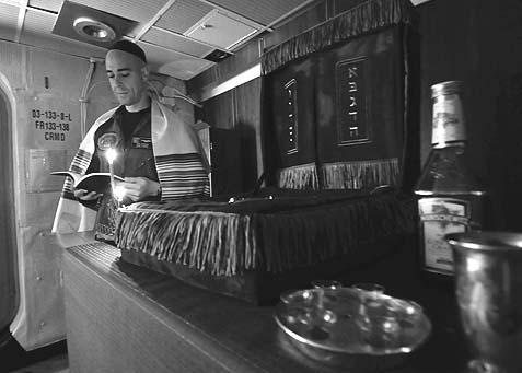 Hanukkah on the USS Harry S. Truman