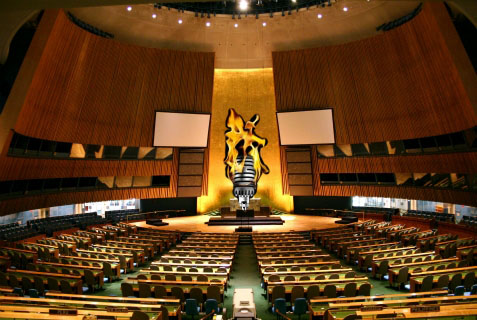 "A ""hot mic"" took center stage at the UN General Assembly on Nov. 14, 2013"
