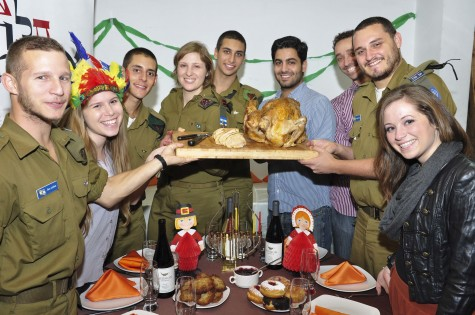 """Lone soldiers"" from the US are not forgotten in Israel, even on Thanksgiving when supporters make sure they can gobble on turkey."