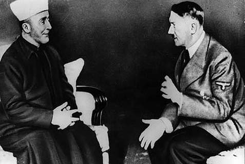 The grand mufti of Jerusalem Haj Amin al-Husseini (L) with a friend.