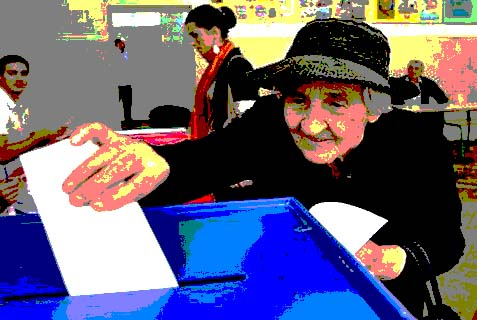 old lady voting