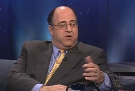 John Podhoretz (seen here on The Daily Show) was booed by the 92nd Street Y audience and shushed by the moderator, Forward editor Jane Eisner, when he defended Israel from claims that Israel was responsible for a recent academic boycott