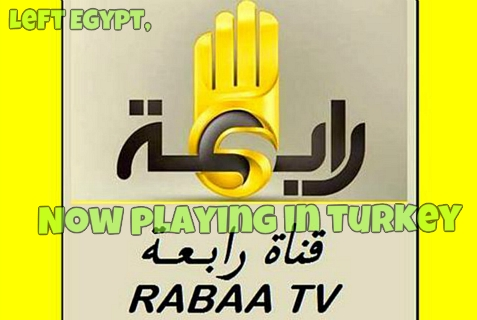 Rabaa, the Muslim Brotherhood-affiliated radio channel, now airing in Turkey