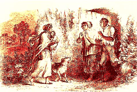 An illustration out of Harriet Beecher Stowe's Uncle Tom's Cabin. Like the slaves in the novel, foreign workers in Saudi Arabia are considered runaways and subject to arrest as soon as they leave their place of employment without their sponsor's permission.