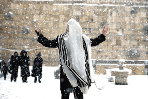 Snow at the Kotel: Jerusalem was a winter wonderland when an epic storm blanketed parts of Israel. (2013)