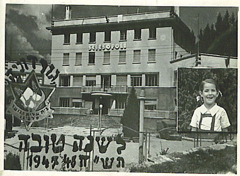 Rosh Hashanah greetings from Sciesopoli, 1947.