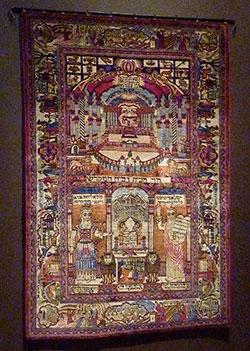 Kashan Wall Carpet (early 20th century) Silk  Courtesy Yeshiva University Museum