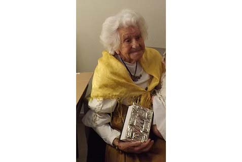 "Germany's ""Oma Ella"" ""lived it up a little"" by celebration her 104th birthday at the Dead Sea."