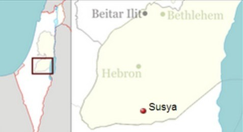 Susiya- Map