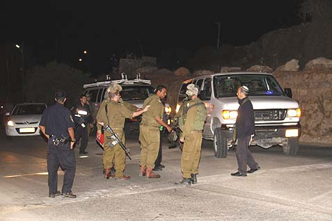 The Psagot area on the night of the attack.