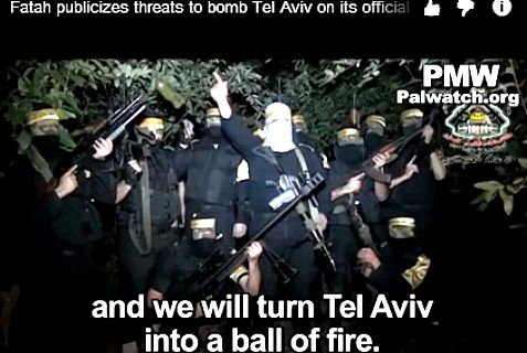 The Al Aqsa Brigades, part of the Fatah party headed by Abbas, proposes peace for the PA by blowing up Tel Aviv.